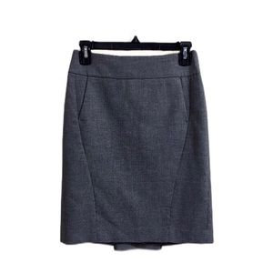 Ann Taylor Loft Gray Skirt With Pockets Size 00P